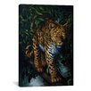 "iCanvasArt ""Watchful Eyes (Tiger)"" Canvas Wall Art by Jenny Newland"