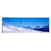 iCanvasArt Panoramic Ski Lift in Mountains Switzerland Photographic Print on Canvas