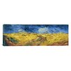 iCanvas 'Wheatfield with Crows' by Vincent Van Gogh Painting Print on Canvas