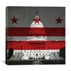 iCanvas Flags Washington, D.C Capitol Building with Grunge Graphic Art on Canvas