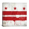 iCanvasArt Flags Washington, D.C Paint Drips with Paper Grunge Graphic Art on Canvas