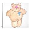 """iCanvas """"Teddy Bear II"""" Canvas Wall Art by Pat Yuille"""