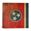 iCanvasArt Flags Tennessee Wood Planks Graphic Art on Canvas