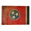 iCanvas Flags Tennessee Wood Planks with Grunge Graphic Art on Canvas