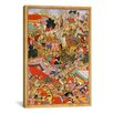 iCanvasArt Hindu Tayang Khan Presented with Head of Mongol Leader Ong Khan Painting Print on Canvas