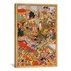 iCanvasArt Hindu Tayang Khan Presented with Head of Mongol Leader Ong Khan Painting Print on Canvas