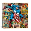 iCanvas Marvel Comics Captain America on Captain America Cover and Panel Graphic Art on Canvas