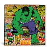 <strong>Marvel Comics Hulk Cover and Panel Graphic Art on Canvas</strong> by iCanvasArt