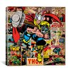 iCanvasArt Marvel Comics Book Thor on Thor Covers and Panels Graphic Art on Canvas