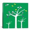 <strong>iCanvasArt</strong> Autumn Trees Graphic Art on Canvas in Green