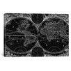 iCanvas Antique Map of the World in Two Hemispheres (1730) by Stoopendaal Graphic Art on Canvas in Black