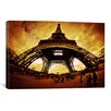 <strong>iCanvasArt</strong> Eiffel Apocalypse by Sebastien Lory Photographic Print on Canvas in Brown / Yellow
