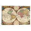 iCanvas 'Antique Map of the World in Two Hemispheres (1730)' by Stoopendaal Graphic Art on Canvas