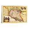 <strong>'Antique Map of Lazio (Latium) (1949-1960)' by Joan Janssonius Grap...</strong> by iCanvasArt