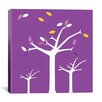 iCanvas Autumn Trees Graphic Art on Canvas in Purple