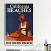 <strong>iCanvasArt</strong> California Beaches (California Pacific) Vintage Advertisement on Canvas