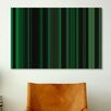 iCanvasArt Striped Art Dark Matrix Green Graphic Art on Canvas