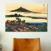 iCanvasArt 'Dawn at Isawa in the Kai Province' by Katsushika Hokusai Painting Print on Canvas