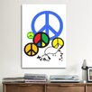 iCanvas Political Peace Sign Symbol Graphic Art on Canvas