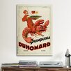 iCanvasArt Duhomard Vintage Advertisement on Canvas