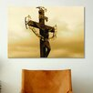 iCanvasArt Christian Crucifix Statue Karlovy Most, Prague Photographic Print on Canvas
