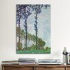 iCanvas 'Poplars (Wind Effect)' by Claude Monet Painting Print on Canvas