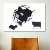 iCanvas 'Mirror Cube Disassembled' by Thomas Photographic Print on Canvas
