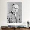 iCanvas Political Harry S Truman Portrait Photographic Print on Canvas