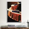 iCanvasArt Fiat Touring Car Vintage Advertisement on Canvas