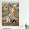 iCanvas Islamic Khusraw Beholding Shirin Bathing Painting Print on Canvas