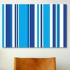 iCanvas Striped Art Cobalt Baby Blue Graphic Art on Canvas