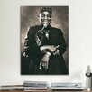 iCanvas African American Saxophone Jazz Player Photographic Print on Canvas