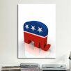 iCanvas Political GOP Republican Party Elephant Symbol Graphic Art on Canvas