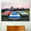 iCanvasArt Cars and Motorcycles Dodge Monaco, Charger, Dart Photographic Print on Canvas