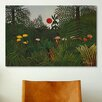 <strong>iCanvasArt</strong> 'Jungle Sunset' by Henri Rousseau Painting Print on Canvas