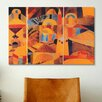 iCanvasArt 'Il Giardino Del Tempio' by Paul Klee Painting Print on Canvas