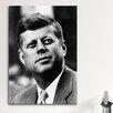 iCanvas Political John F Kennedy JFK Portrait Photographic Print on Canvas