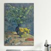 iCanvas 'Deux Vases De Fleurs Et Un Eventail 1885' by Paul Gauguin Painting Print on Canvas