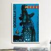 iCanvasArt Godzilla Kontra Gigan Vintage Advertisement on Canvas
