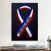 iCanvas Political God Bless The USA Ribbon Graphic Art on Canvas