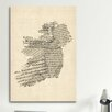 iCanvasArt 'Ireland Sheet Music Map' by Michael Tompsett Graphic Art on Canvas