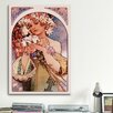 iCanvas 'Flower' by Alphonse Mucha Painting Print on Canvas