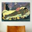 <strong>iCanvasArt</strong> 'Girl in Bed' Art by Paul Gauguin Painting Print on Canvas