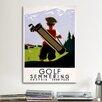 iCanvasArt Golf Semmering Vintage Advertisement on Canvas