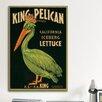 iCanvasArt King Pelican Brand California Lettuce Label Vintage Advertisement on Canvas
