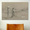 iCanvasArt 'Fishing in the Pond 1878' by Winslow Homer Painting Print on Canvas