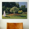 iCanvasArt 'Jeanne-Marguerite Lecadre (Woman) in The Garden' by Claude Monet Painting Print on Canvas