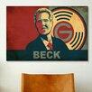 iCanvasArt Political Glenn Beck Stencil Portrait Graphic Art on Canvas
