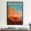 <strong>iCanvasArt</strong> Atlantic City Bathing Pa Line Vintage Advertisement on Canvas