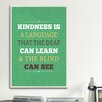iCanvasArt American Flat Kindness Textual Art on Canvas